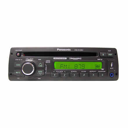 Heavy-Duty CD Player with AM/FM/MP3/WB - Satellite Radio Ready