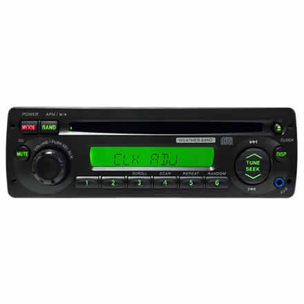 Heavy-Duty CD Player with 3.5mm Front Aux-In, Weather Band AM/FM