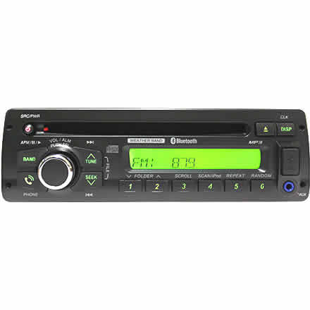 Heavy-Duty CD Player w/Bluetooth USB 3.5mm Aux-In AM/FM/MP3/WMA