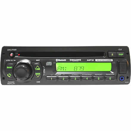 Heavy-Duty CD Player SiriusXM Bluetooth USB Aux-In AM/FM/MP3/WMA