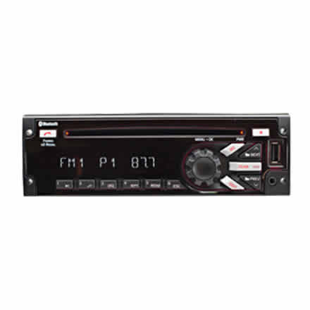 Heavy-Duty AM/FM/MP3/WMA/WB CD Player w/USB Port and Bluetooth
