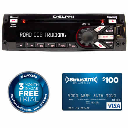 Heavy-Duty AM/FM/MP3/WB CD Player with USB, SiriusXM, Bluetooth